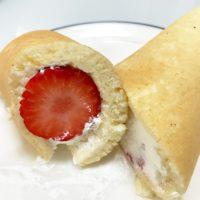 ひんやり苺ロールパンケーキの作り方
